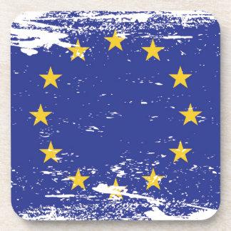 Bandera de unión europea del Grunge Posavasos
