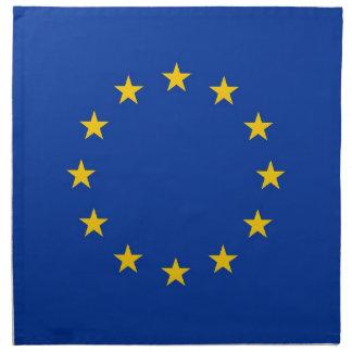 Bandera de unión europea en la servilleta de MoJo