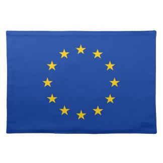 Bandera de unión europea en MoJo Placemat Manteles