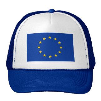 Bandera de unión europea gorros