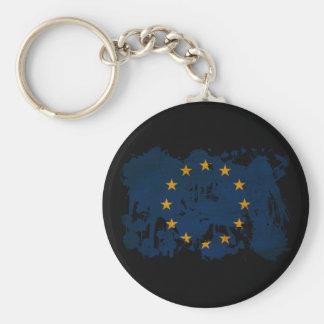 Bandera de unión europea llavero redondo tipo pin