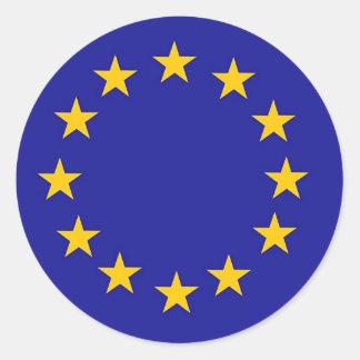 Bandera de unión europea pegatina redonda