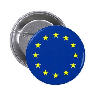 bandera de unión europea pin redondo de 2 pulgadas