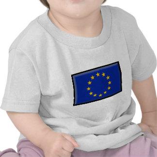 Bandera de unión europea camisetas