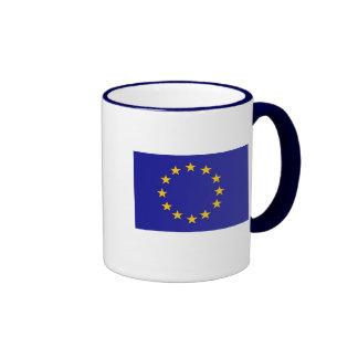 Bandera de unión europea tazas de café