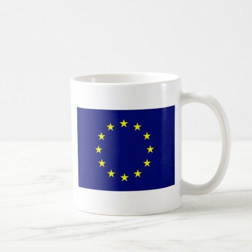 Bandera de unión europea taza