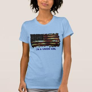 Bandera de unión guerra civil camiseta divertida