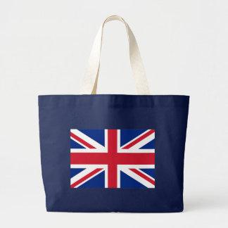 Bandera de Union Jack Británicos Bolsa Tela Grande