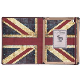 Bandera de Union Jack británicos del Grunge iPad Cárcasas