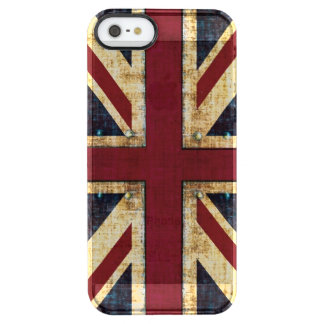 Bandera de Union Jack Británicos del Grunge Funda Clearly™ Deflector Para iPhone 5 De Uncommon