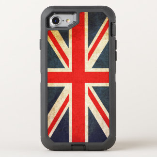 Bandera de Union Jack Británicos del vintage Funda OtterBox Defender Para iPhone 7