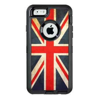Bandera de Union Jack Británicos del vintage Funda Otterbox Para iPhone 6/6s