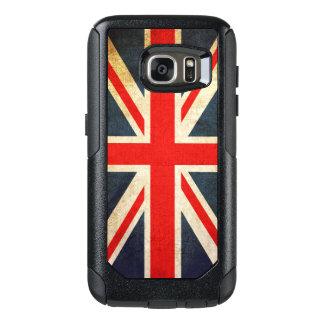 Bandera de Union Jack Británicos del vintage Funda Otterbox Para Samsung Galaxy S7