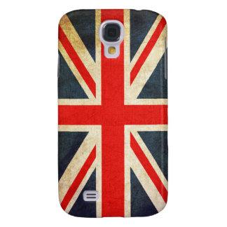Bandera de Union Jack Británicos del vintage Funda Para Galaxy S4