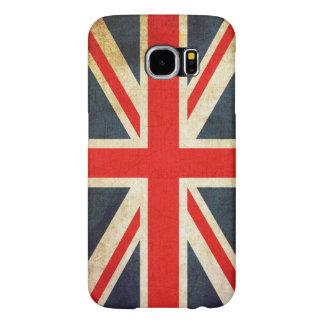 Bandera de Union Jack Británicos del vintage Fundas Samsung Galaxy S6
