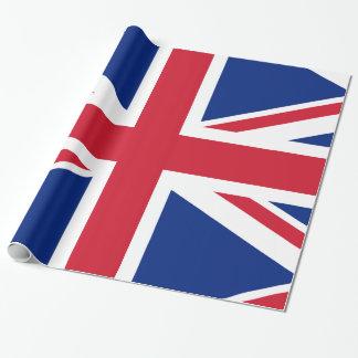 Bandera de Union Jack Británicos Papel De Regalo