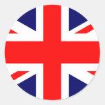 Bandera de Union Jack Británicos Etiquetas Redondas