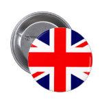 Bandera de Union Jack Británicos Pin Redondo 5 Cm