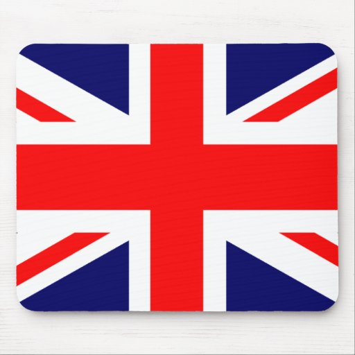 Bandera de Union Jack Británicos Tapetes De Ratón