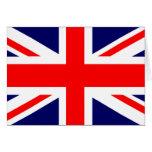 Bandera de Union Jack Británicos Tarjeta De Felicitación
