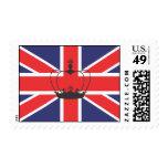 Bandera de Union Jack con franqueo de la corona