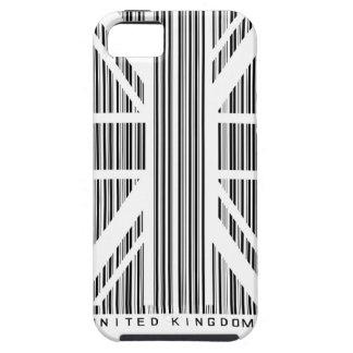 Bandera de Union Jack de la clave de barras de las iPhone 5 Carcasa