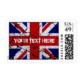Bandera de Union Jack de la peladura Del Reino Sello