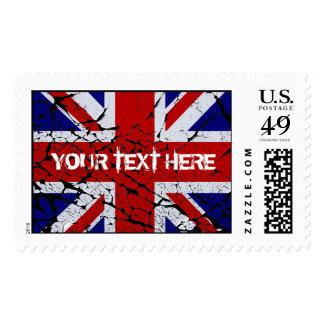 Bandera de Union Jack de la peladura Del Reino Timbre Postal