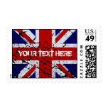 Bandera de Union Jack de la peladura Del Reino Uni