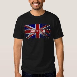 Bandera de Union Jack de la pintura de la peladura Remera