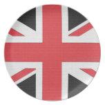Bandera de Union Jack de la placa de Gran Bretaña Plato