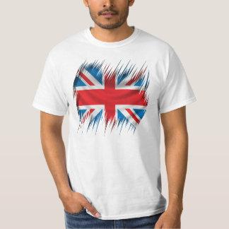 Bandera de Union Jack de las trituradoras Poleras