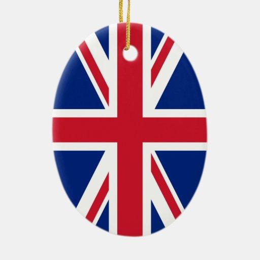 Bandera de Union Jack Ornaments Para Arbol De Navidad