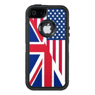 Bandera de Union Jack del americano Funda OtterBox Defender Para iPhone 5