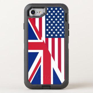 Bandera de Union Jack del americano Funda OtterBox Defender Para iPhone 7