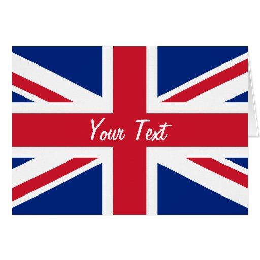 Bandera de Union Jack del bajo costo de Gran Breta Tarjetón