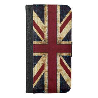 Bandera de Union Jack del Grunge Funda Cartera Para iPhone 6/6s