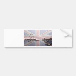Bandera de Union Jack del horizonte de Londres Pegatina Para Auto