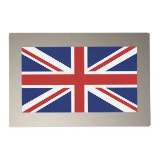Bandera de Union Jack del Reino Unido Salvamanteles