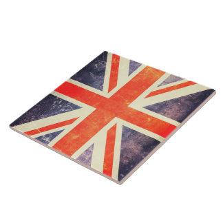 Bandera de Union Jack del vintage Azulejo Cuadrado Grande