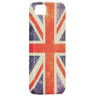 Bandera de Union Jack del vintage iPhone 5 Case-Mate Protectores