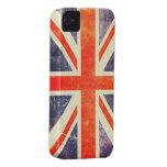 Bandera de Union Jack del vintage iPhone 4 Protectores