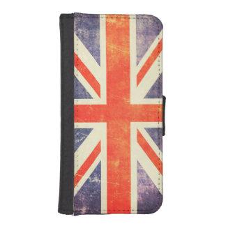 Bandera de Union Jack del vintage Funda Cartera Para Teléfono