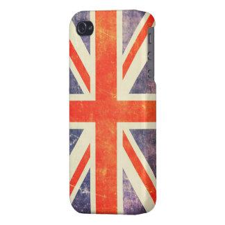 Bandera de Union Jack del vintage iPhone 4/4S Carcasa