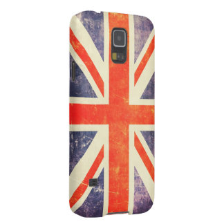 Bandera de Union Jack del vintage Funda Para Galaxy S5
