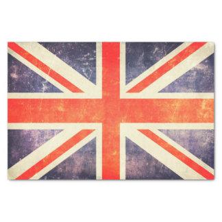Bandera de Union Jack del vintage Papel De Seda