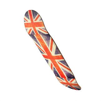 Bandera de Union Jack del vintage Patines Personalizados