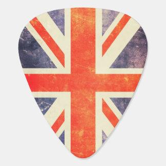 Bandera de Union Jack del vintage Plumilla De Guitarra