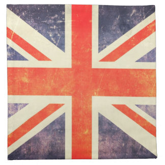 Bandera de Union Jack del vintage Servilletas