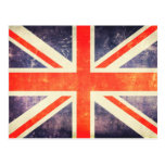 Bandera de Union Jack del vintage Tarjeta Postal